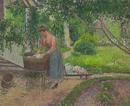 pissarro_-_laveuse_dans_le_jardin_deragny_1899